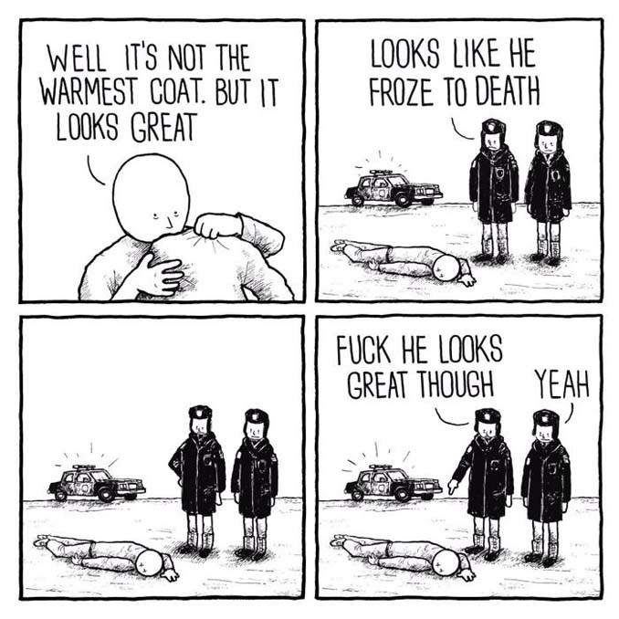 Κλασσικά προβλήματα του Χειμώνα μέσα από χιουμοριστικά σκίτσα (2)
