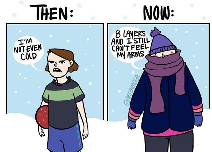Κλασσικά προβλήματα του Χειμώνα μέσα από χιουμοριστικά σκίτσα (7)