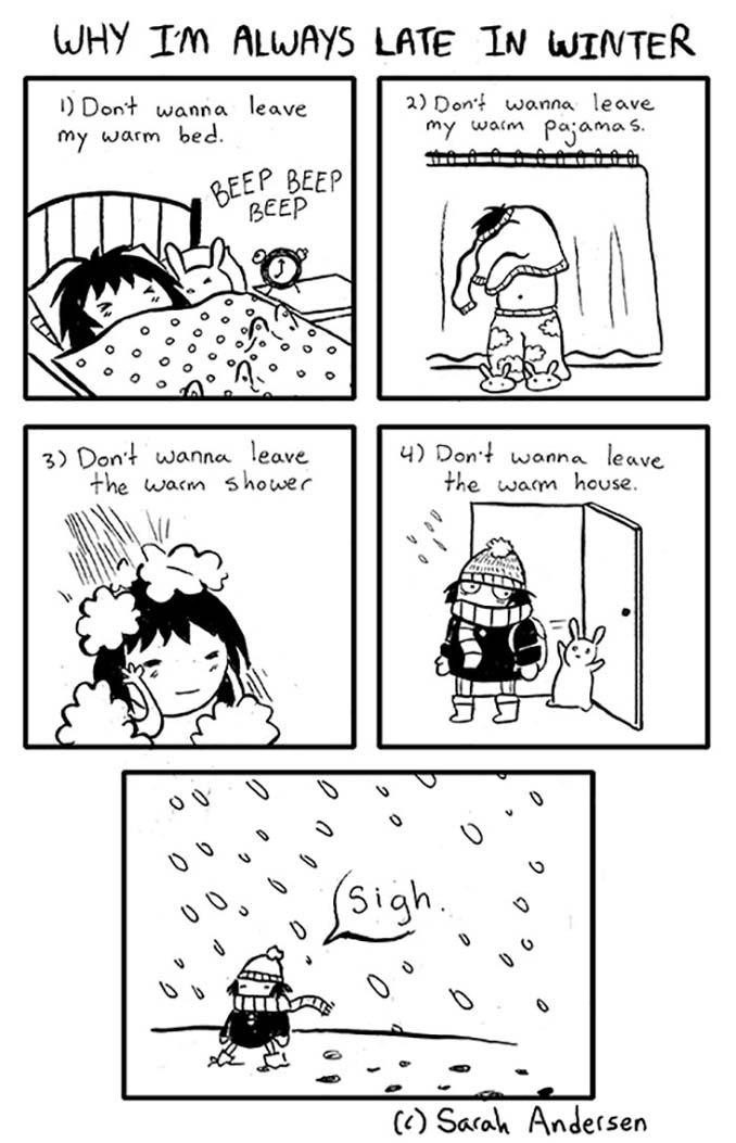 Κλασσικά προβλήματα του Χειμώνα μέσα από χιουμοριστικά σκίτσα (14)