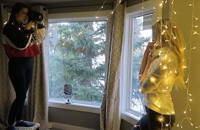 Φωτογράφος αποκαλύπτει πώς να βγάλετε εκπληκτικά πορτραίτα με χριστουγεννιάτικα λαμπάκια στο δωμάτιό σας (10)
