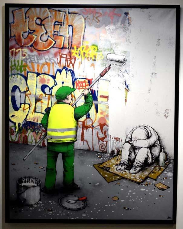 Σατιρικά σκίτσα από τον Γάλλο Banksy που θα σας βάλουν σε σκέψεις (4)