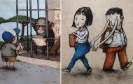 Σατιρικά σκίτσα από τον Γάλλο Banksy που θα σας βάλουν σε σκέψεις (19)