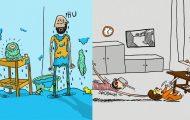 Σκιτσογράφος σε άδεια πατρότητας περιγράφει την καθημερινότητα του με ξεκαρδιστικά σκίτσα