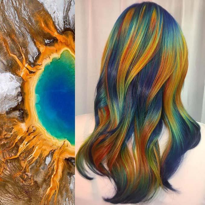 Hair stylist εμπνέεται για το χρώμα μαλλιών από φυσικά τοπία και έργα τέχνης (1)