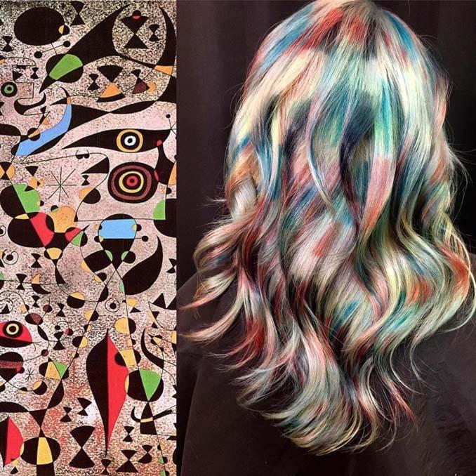 Hair stylist εμπνέεται για το χρώμα μαλλιών από φυσικά τοπία και έργα τέχνης (3)