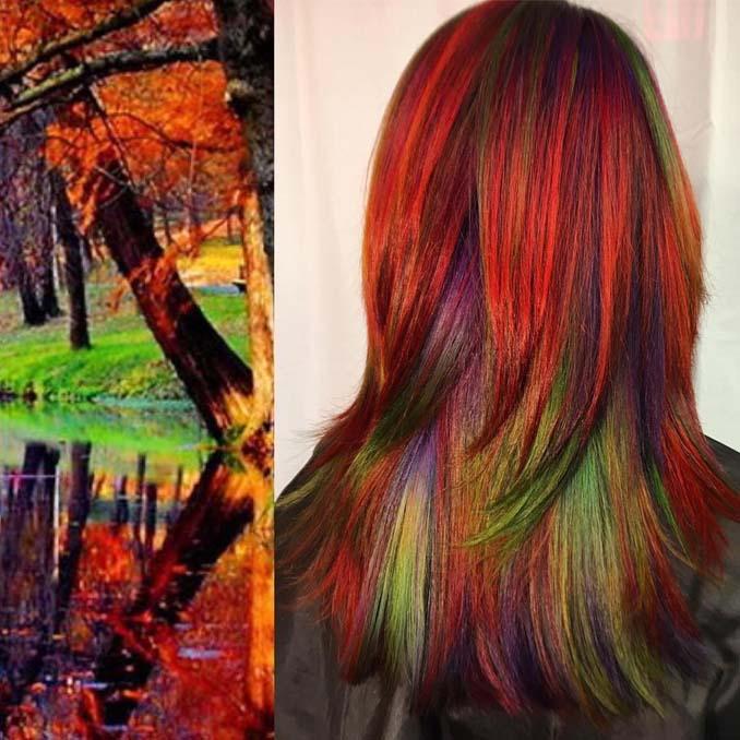 Hair stylist εμπνέεται για το χρώμα μαλλιών από φυσικά τοπία και έργα τέχνης (13)