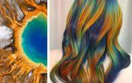 Hair stylist εμπνέεται για το χρώμα μαλλιών από φυσικά τοπία και έργα τέχνης (22)