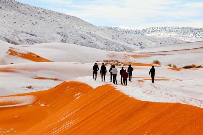 Απίστευτες φωτογραφίες από την έρημο Σαχάρα, όπου χιόνισε για τρίτη φορά τα τελευταία 40 χρόνια! (8)