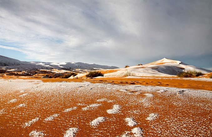 Απίστευτες φωτογραφίες από την έρημο Σαχάρα, όπου χιόνισε για τρίτη φορά τα τελευταία 40 χρόνια! (9)