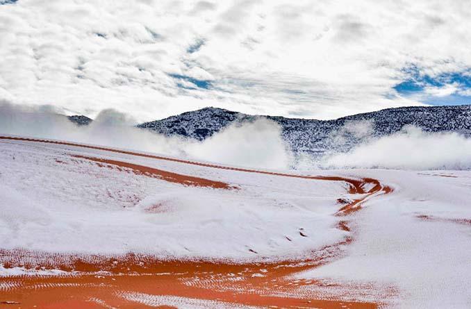 Απίστευτες φωτογραφίες από την έρημο Σαχάρα, όπου χιόνισε για τρίτη φορά τα τελευταία 40 χρόνια! (12)