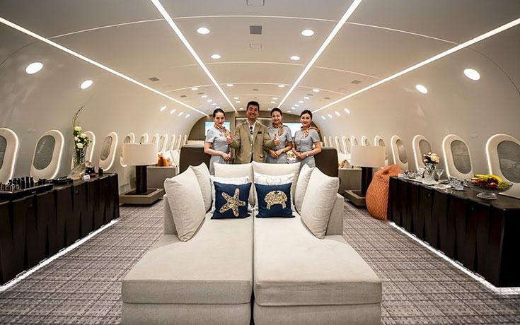 Στο εσωτερικό του μοναδικού ιδιωτικού Boeing 787 Dreamliner στον κόσμο