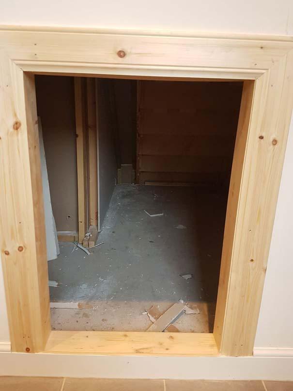 Κατασκευάζοντας ένα υπέροχο δωμάτιο για το σκύλο κάτω από τη σκάλα (6)