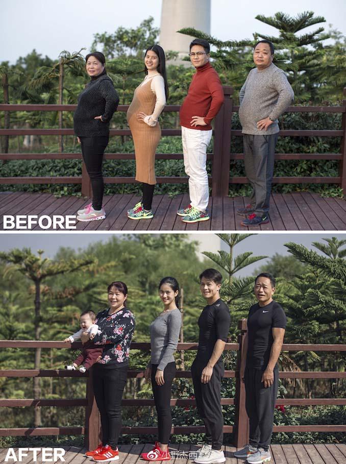 Κινεζική οικογένεια αποφάσισε να αδυνατίσει μαζί και το αποτέλεσμα μετά από 6 μήνες είναι εκπληκτικό (3)