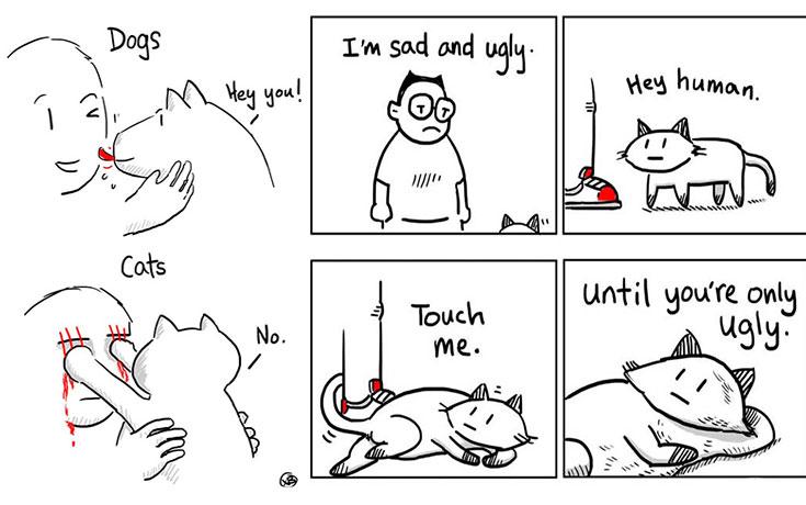 Ξεκαρδιστικά σκίτσα αποκαλύπτουν την πραγματικότητα του να έχεις γάτα (16)