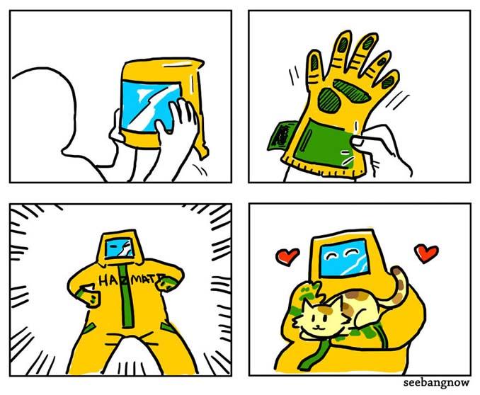 Ξεκαρδιστικά σκίτσα αποκαλύπτουν την πραγματικότητα του να έχεις γάτα (5)