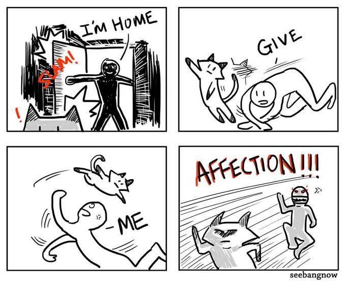 Ξεκαρδιστικά σκίτσα αποκαλύπτουν την πραγματικότητα του να έχεις γάτα (7)
