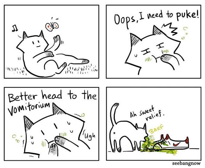 Ξεκαρδιστικά σκίτσα αποκαλύπτουν την πραγματικότητα του να έχεις γάτα (10)