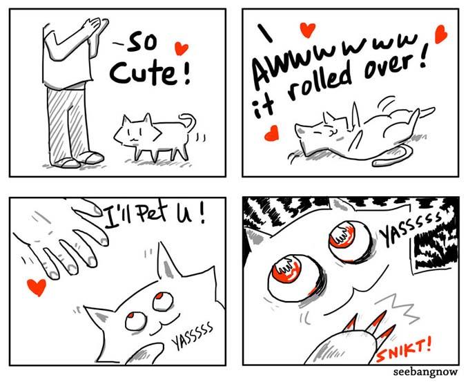 Ξεκαρδιστικά σκίτσα αποκαλύπτουν την πραγματικότητα του να έχεις γάτα (11)