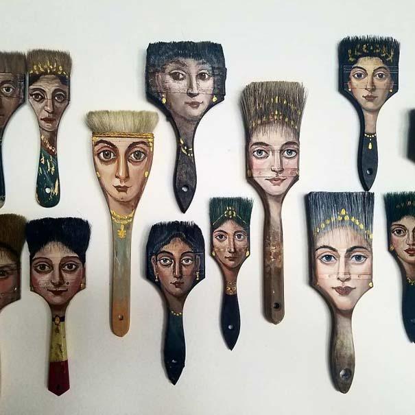 Καλλιτέχνιδα βρίσκει παλιά αντικείμενα και τα μετατρέπει σε εκπληκτικά έργα τέχνης (1)