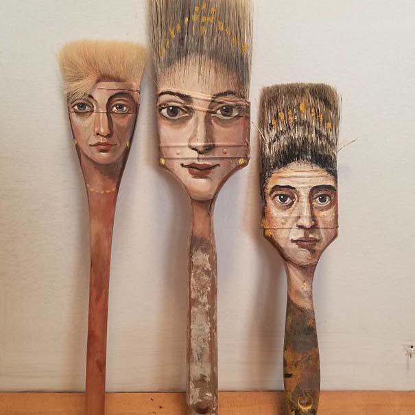 Καλλιτέχνιδα βρίσκει παλιά αντικείμενα και τα μετατρέπει σε εκπληκτικά έργα τέχνης (4)