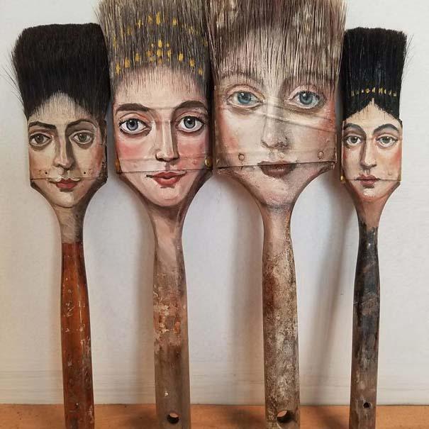 Καλλιτέχνιδα βρίσκει παλιά αντικείμενα και τα μετατρέπει σε εκπληκτικά έργα τέχνης (8)