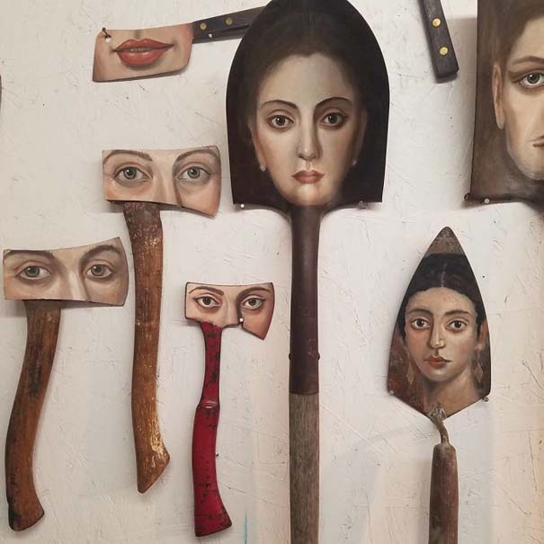 Καλλιτέχνιδα βρίσκει παλιά αντικείμενα και τα μετατρέπει σε εκπληκτικά έργα τέχνης (13)