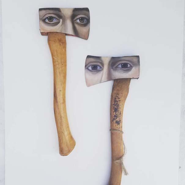 Καλλιτέχνιδα βρίσκει παλιά αντικείμενα και τα μετατρέπει σε εκπληκτικά έργα τέχνης (14)