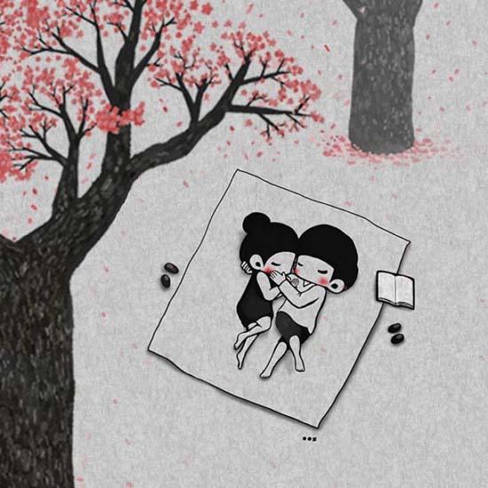Σκιτσογραφώντας την αγάπη μέσα από μικρές στιγμές της καθημερινότητας (1)
