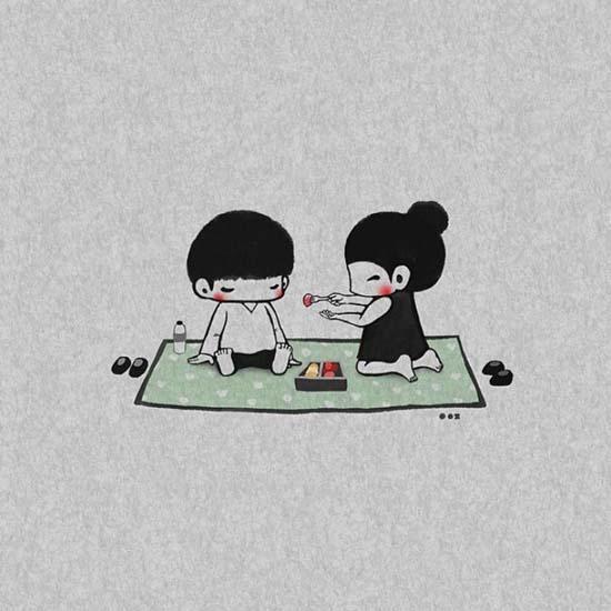 Σκιτσογραφώντας την αγάπη μέσα από μικρές στιγμές της καθημερινότητας (6)