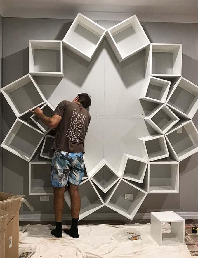 Ζευγάρι έφτιαξε μια DIY βιβλιοθήκη που είδε στο Internet και το αποτέλεσμα είναι εκπληκτικό (5)