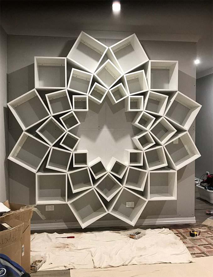 Ζευγάρι έφτιαξε μια DIY βιβλιοθήκη που είδε στο Internet και το αποτέλεσμα είναι εκπληκτικό (6)