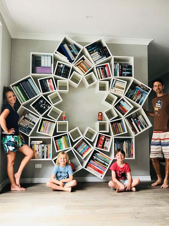 Ζευγάρι έφτιαξε μια DIY βιβλιοθήκη που είδε στο Internet και το αποτέλεσμα είναι εκπληκτικό (8)