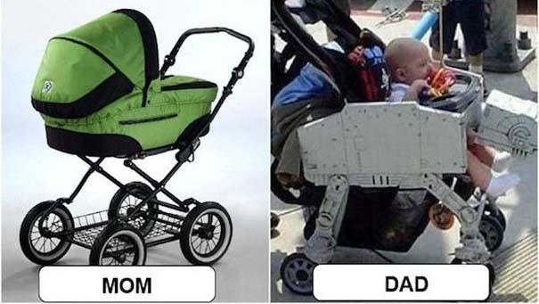 Μερικές φορές οι μαμάδες και μπαμπάδες έχουν διαφορετική προσέγγιση στο ρόλο του γονιού (2)