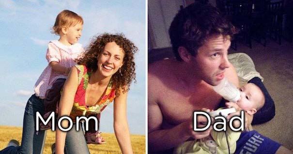Μερικές φορές οι μαμάδες και μπαμπάδες έχουν διαφορετική προσέγγιση στο ρόλο του γονιού (12)