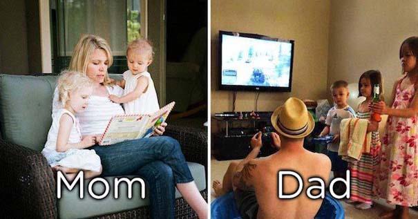Μερικές φορές οι μαμάδες και μπαμπάδες έχουν διαφορετική προσέγγιση στο ρόλο του γονιού (13)