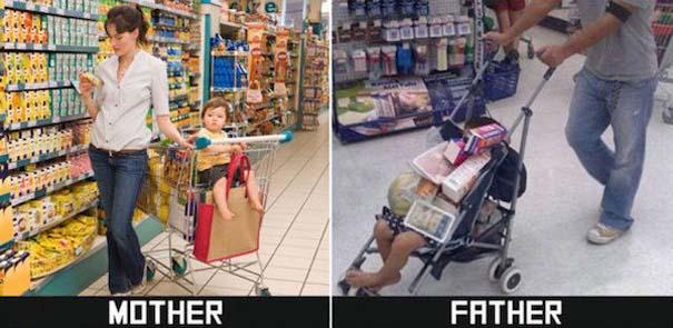 Μερικές φορές οι μαμάδες και μπαμπάδες έχουν διαφορετική προσέγγιση στο ρόλο του γονιού (16)