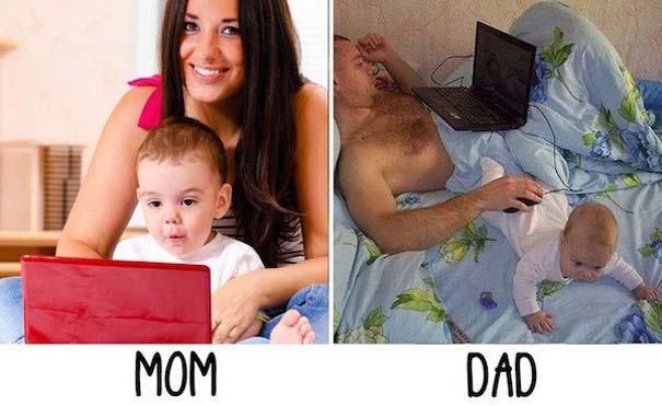 Μερικές φορές οι μαμάδες και μπαμπάδες έχουν διαφορετική προσέγγιση στο ρόλο του γονιού (17)