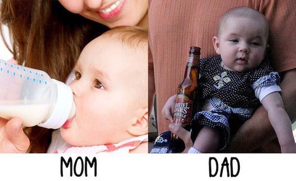 Μερικές φορές οι μαμάδες και μπαμπάδες έχουν διαφορετική προσέγγιση στο ρόλο του γονιού (18)