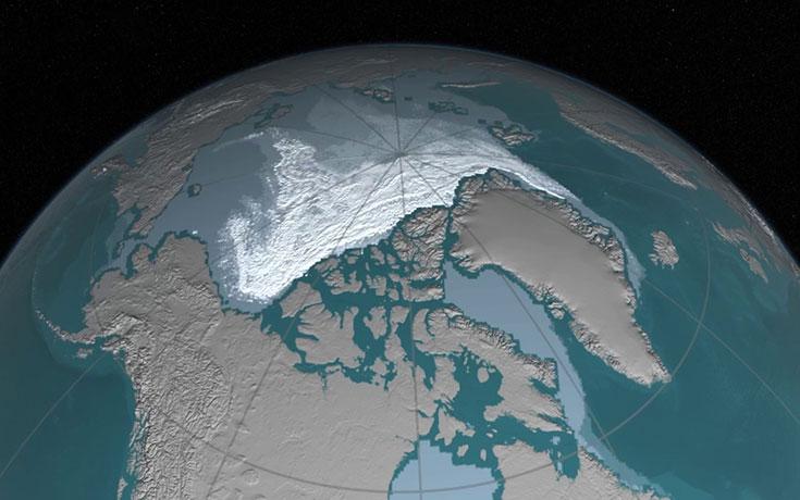Η NASA δείχνει πως εξαφανίζεται το πολικό κάλυμμα πάγου της Αρκτικής