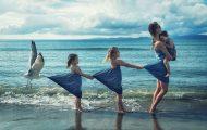 Πατέρας δημιουργεί απίθανες εικόνες με τις τρεις κόρες και τον γιο του (1)