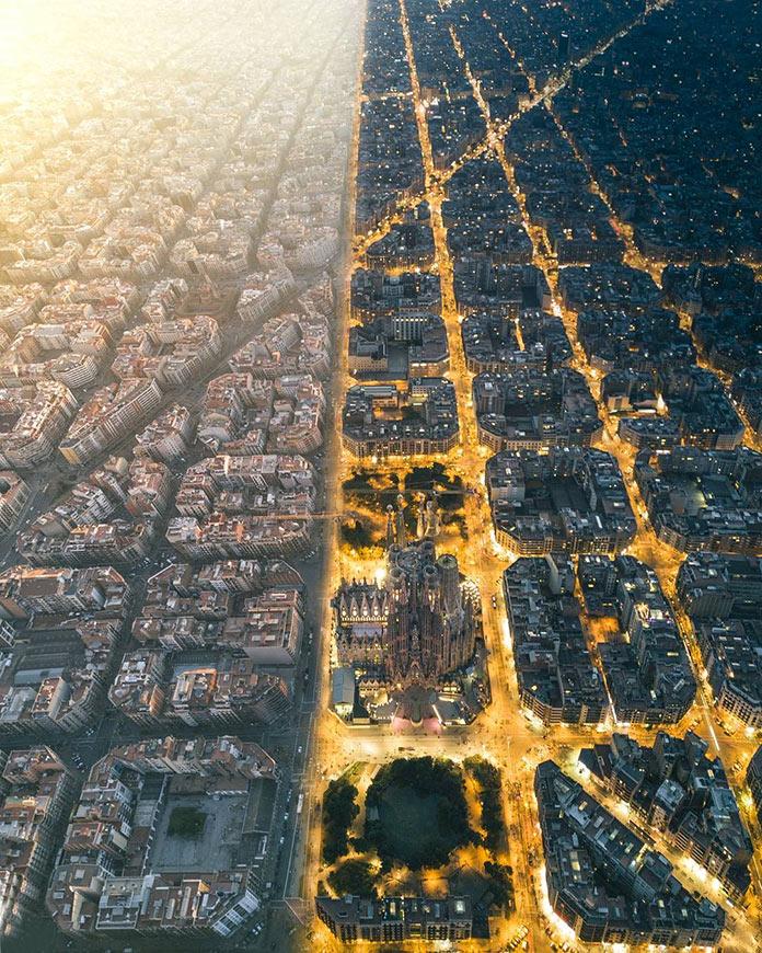 Βαρκελώνη: Ημέρα / Νύχτα | Φωτογραφία της ημέρας