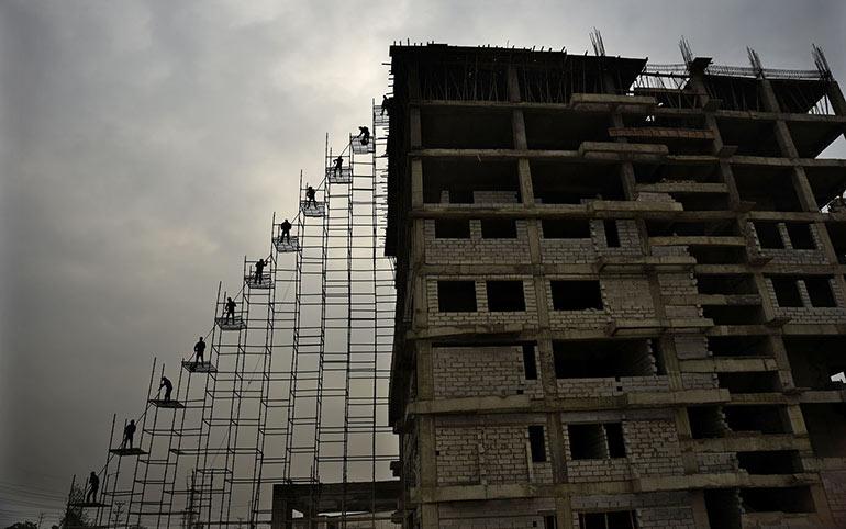 Κατασκευάζοντας ένα κτίριο στην Ινδία | Φωτογραφία της ημέρας