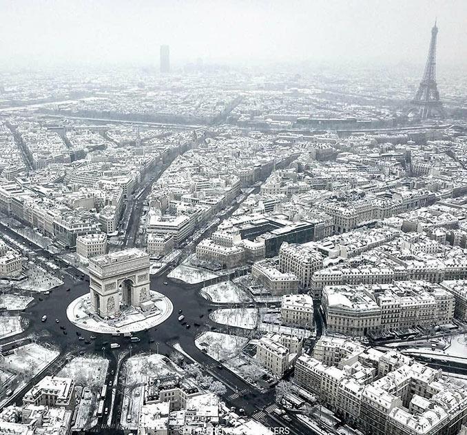 Το Παρίσι ντυμένο στα λευκά | Φωτογραφία της ημέρας