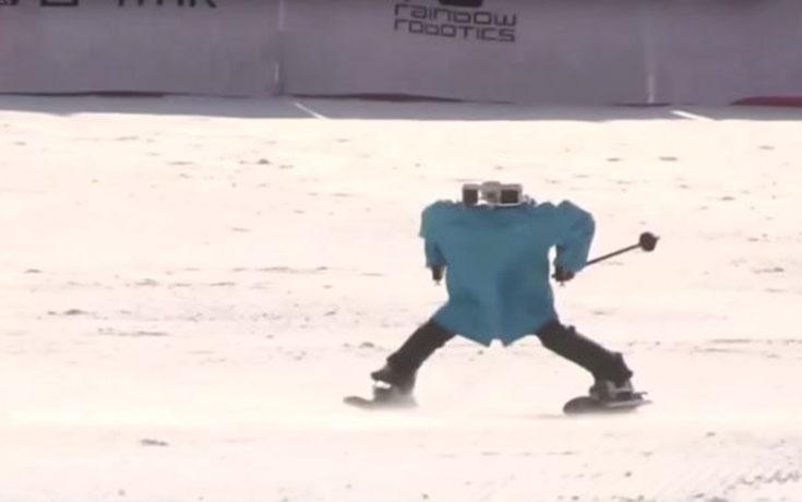 Ρομπότ επιχειρούν να κάνουν σκι