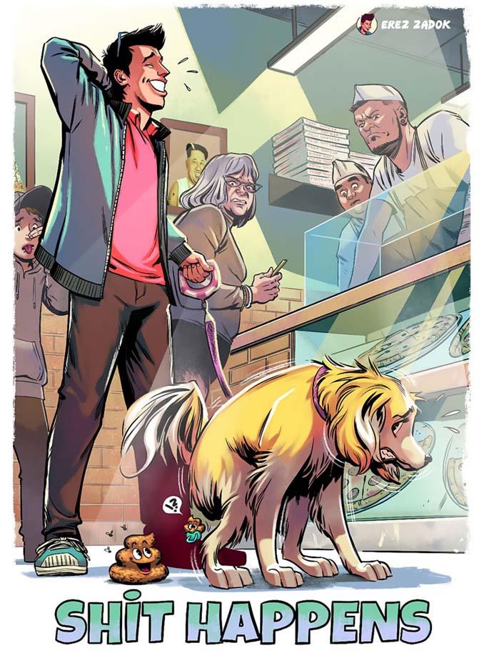 Σκίτσα με καταστάσεις που κάθε ιδιοκτήτης σκύλου θα καταλάβει (5)
