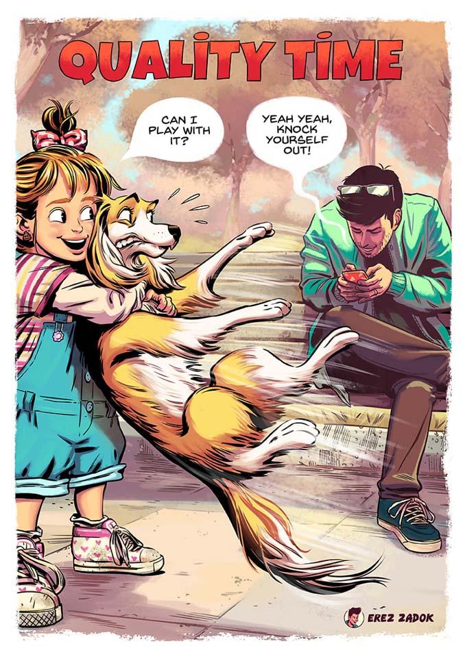 Σκίτσα με καταστάσεις που κάθε ιδιοκτήτης σκύλου θα καταλάβει (13)