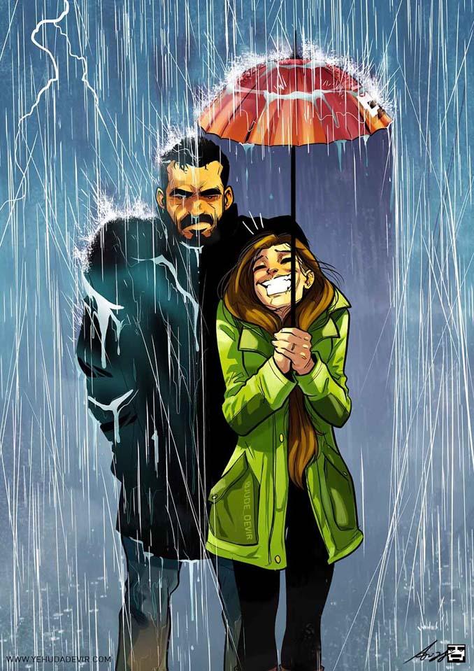 Καλλιτέχνης συνεχίζει να σκιτσογραφεί τη ζωή με τη γυναίκα του σε 15 νέα χιουμοριστικά comics (2)