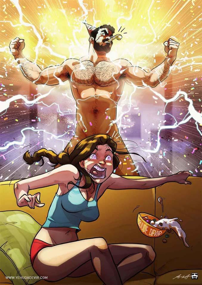 Καλλιτέχνης συνεχίζει να σκιτσογραφεί τη ζωή με τη γυναίκα του σε 15 νέα χιουμοριστικά comics (7)