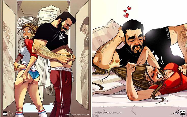 Καλλιτέχνης συνεχίζει να σκιτσογραφεί τη ζωή με τη γυναίκα του σε 15 νέα χιουμοριστικά comics (16)