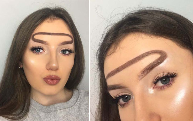 Beauty blogger πειραματίζεται με τα φρύδια της και ιδού τα αποτελέσματα